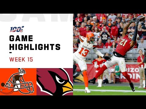 Browns vs. Cardinals Week 15 Highlights | NFL 2019
