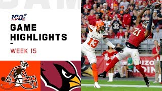Download Browns vs. Cardinals Week 15 Highlights | NFL 2019 Mp3 and Videos