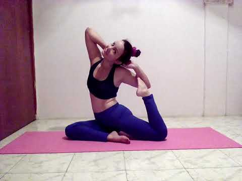 yoga practice pigeon pose mermaid pose  youtube