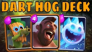 2.8 HOG CYCLE DECK + DART GOBLIN = 12-0 Grand Challenge Pro Tips in Clash Royale