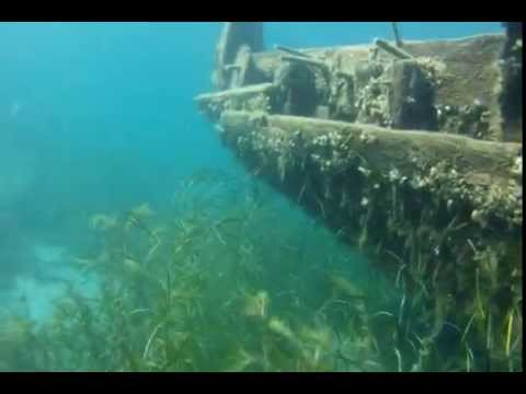 "Shipwreck of ""The Sweepstakes"" in Big Tub Harbour, Tobermory Ontario Canada. Filmed with a GoPro Hero HD camera in a flat lens housing by Sartek. History of The Sweepstakes... http://en.wikipedia.org/wiki/Sweepstakes_(schooner)"