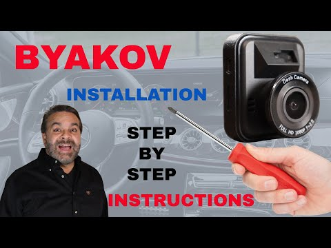 How to Install the BYAKOV 1080P Dash Cam Step By Step Installation