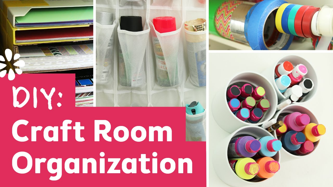 Diy craft room organization ideas sea lemon youtube for Diy organization crafts