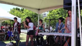 Kat and Sky Ozden from The School of Rock Southbay, Los Angeles at the LA Ride for Kids 2014