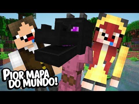 Minecraft: APRESENTANDO O PIOR MAPA DO MUNDO PARA A CHERRY!
