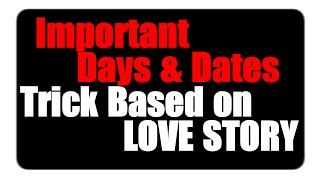 Tricks to remember Important Days | Based on Army Love story | January
