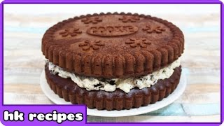 How to Make Giant Oreo Cake | Birthday Cake | Quick and Easy Cake Recipe by HooplaKidz Recipes