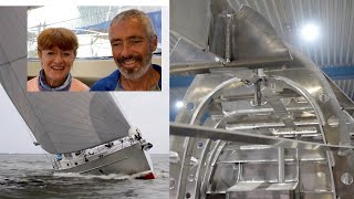 How Aluminum Sailboats are Made - KM Yachtbuilders Factory Tour
