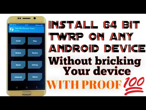 How to install 64bit twrp 3 2 1 on any android device without  pc|hindi|sharing is caring