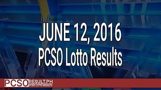PCSO Lotto Results June 12, 2016 (6/58, 6/49, Swertres & EZ2)