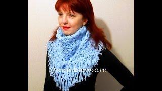 Шаль крючком - 1 часть -  Crochet Shawl
