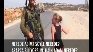 10 Yaşındaki Filistinli kız İsrail askerlerine kafa tutuyor