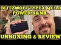 BLITZWOLF BW PF2 QC 3 0 TYPE C POWER BANK UNBOXING   REVIEW  2018