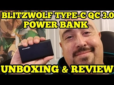 BLITZWOLF BW-PF2 QC 3.0 TYPE-C POWER BANK UNBOXING & REVIEW (2018)
