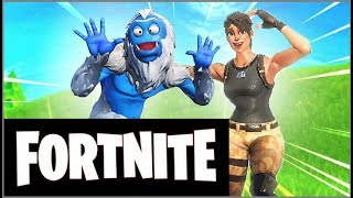 FORTNITE on the skin Trog snowman piloting airplane and catching sword Gameplay