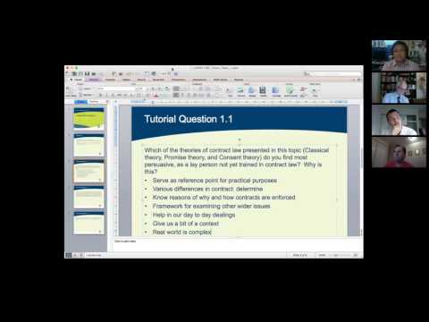 Contract Law Tutorial: Theories of Contract Law