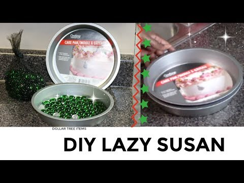 Lazy Susan DIY with Dollar Tree Items