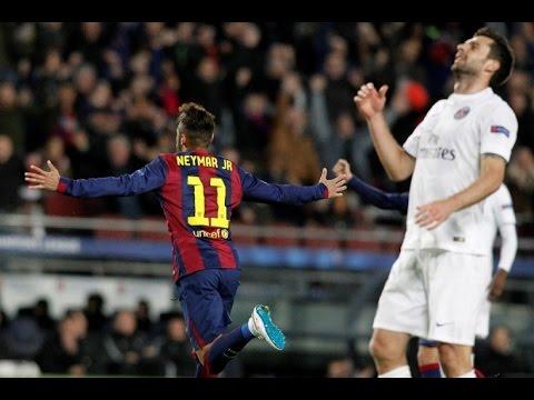 Barcelona vs PSG 2-0 goals Full HD Neymar Goals Show (22/04/2015) - YouTube