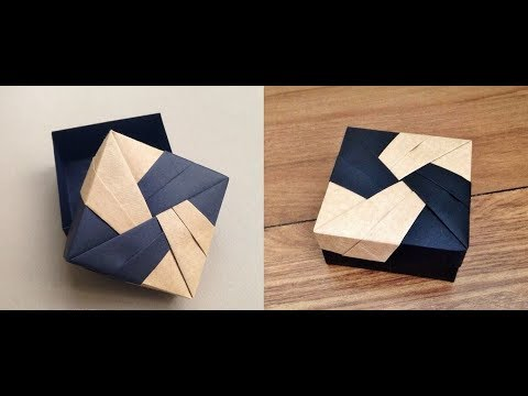 Origami | Modular Origami box | ( How to make ) | Paper crafts | Desk organizer | Origami pen holder