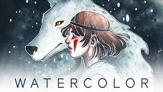 WATERCOLOR - Princess Mononoke