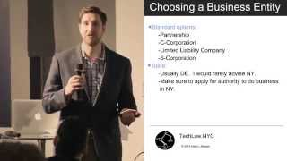 Business Formation & Choice of Entity
