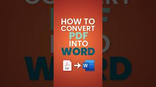 How to Convert PDF to Word #shorts
