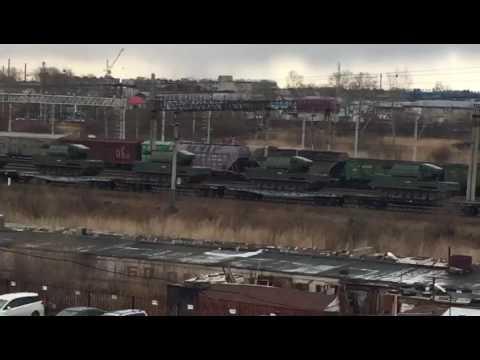 Переброска войск и техники России ближе к границе КНДР.Новости