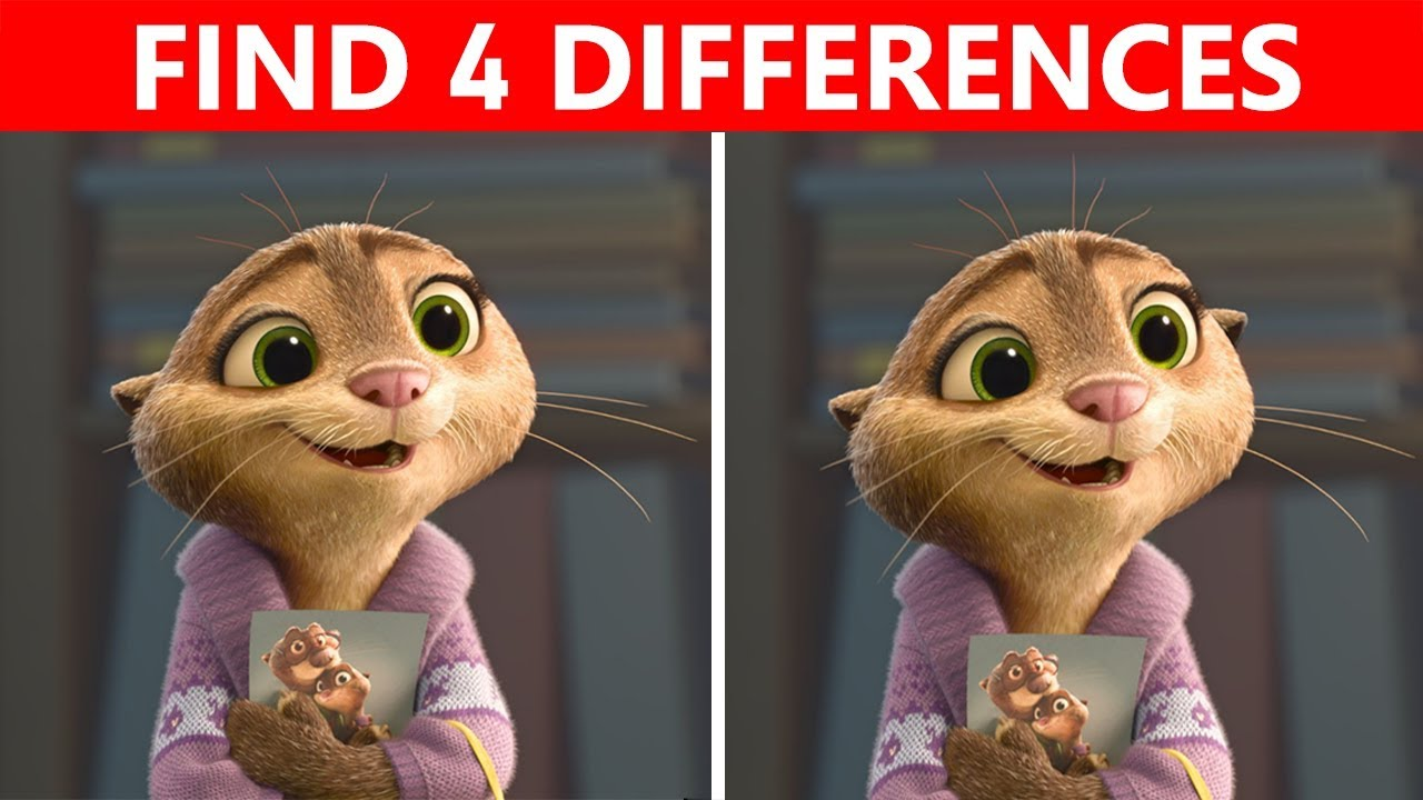 Download Bet You Can't FIND THE DIFFERENCE! | 100% FAIL | ZOOTOPIA Movie Picture Puzzle