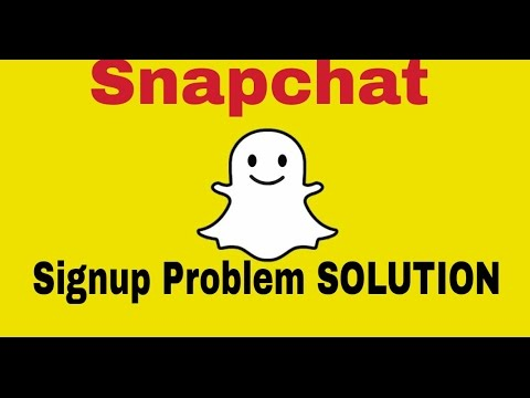 Snapchat Signup Problem Solution. How To Signup In Snapchat.