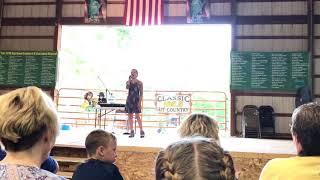 "Sierra Maison singing ""Alone"" at 2017 Ogemaw County Fair"
