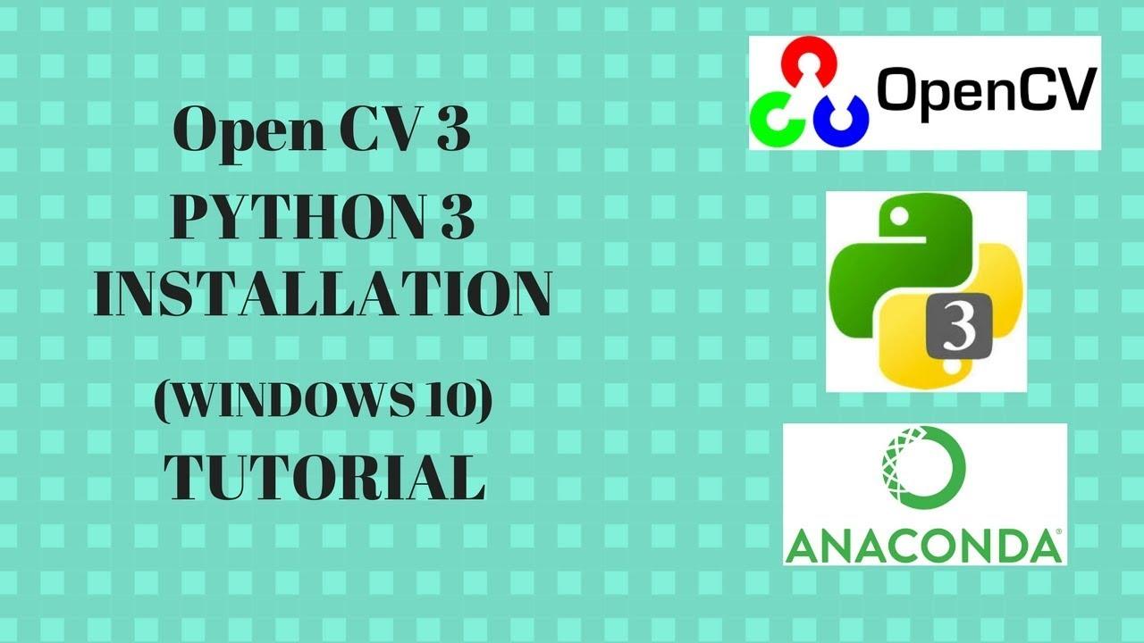 Install openCV in python 3