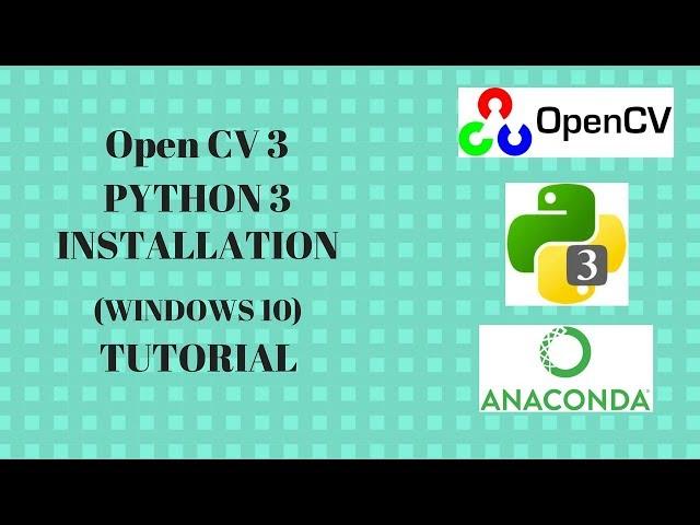 python 3 install opencv windows