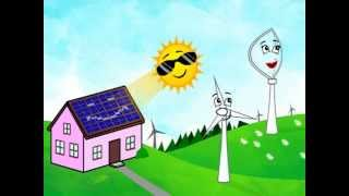 Clean Green Energy Cartoon