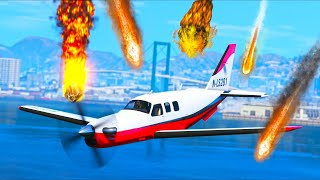 Meteor Shower DESTROYS the city, can we ESCAPE?! (GTA 5 Mods Gameplay)