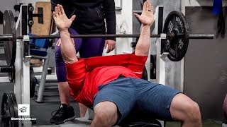 Mark Bell Teaches NFL Prospects How to Bench Press