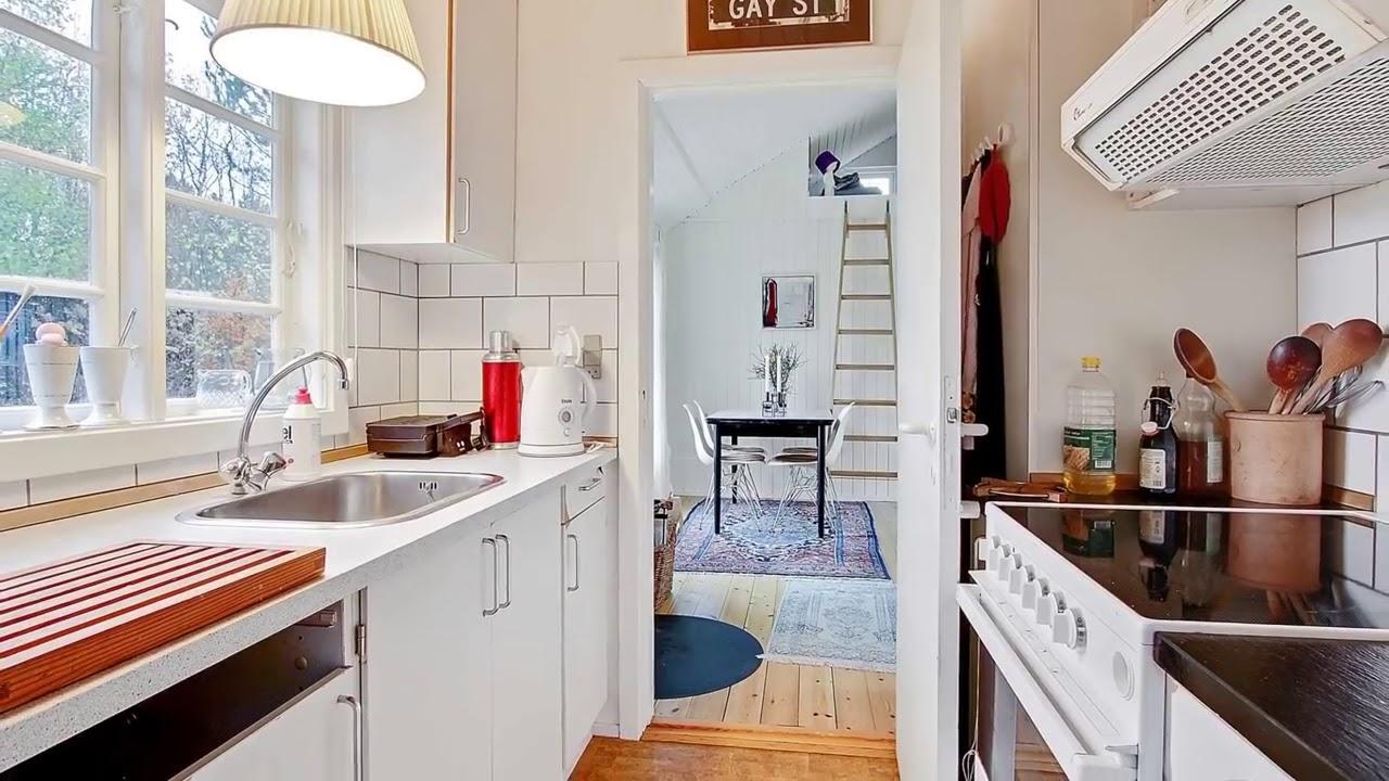 Amazing tiny cottage black and white danish summerhouse small house design ideas