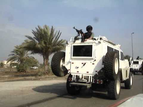 Route Irish, Baghdad, Iraq, Convoy with PSD