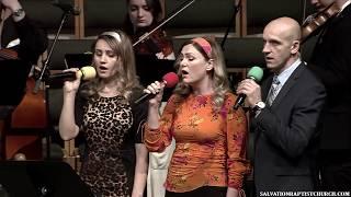Пение «Я Тебя буду ждать» ─ Олеся К, Светлана и Максим С.