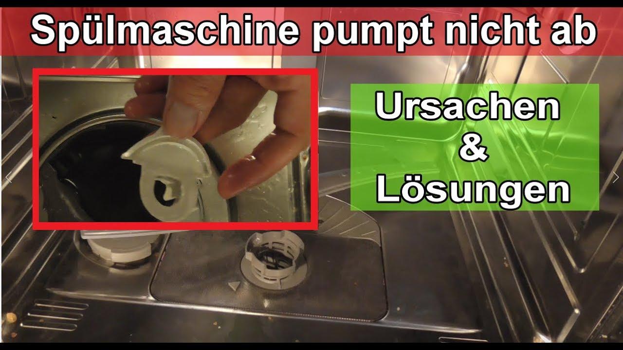 sp lmaschine pumpt nicht ab geschirrsp ler l uft nicht ab ursache l sung wasser im unterboden