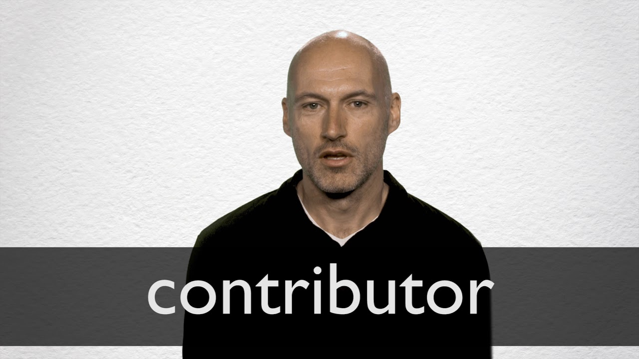 Contributor definition and meaning | Collins English Dictionary