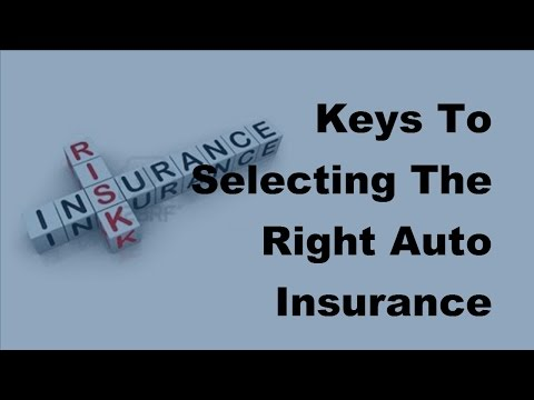 2017 Car Insurance Policy |  Keys To Selecting The Right Auto Insurance Firm