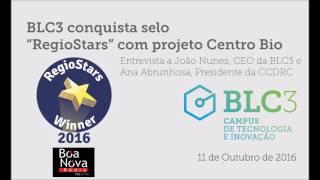 """Rádio Boa Nova   BLC3 conquista selo """"RegioStars"""" com projeto Centro Bio"""