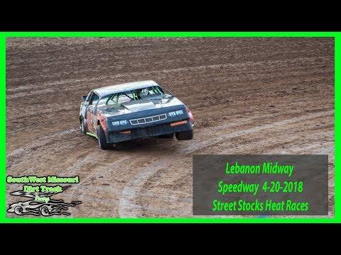 Street Stocks Heat Races - Lebanon Midway Speedway - 4-20-2018 Starnes Auto