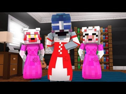 Ballora Play Dress Up with the girls as Disney Princesses! (Minecraft Fnaf Daycare)