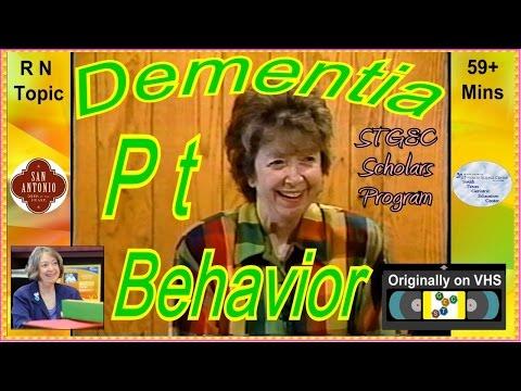 STGEC Scholars: Demented Patient's Behavior (2001)