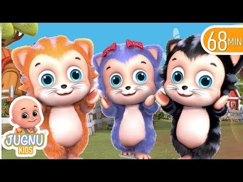 Three Little Kittens   Nursery Rhymes Compilation from Jugnu Kids