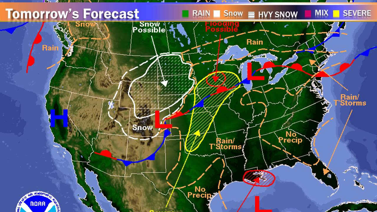 PURDUE WEATHER FORECAST POWERPOINT YouTube - Map of united states weather forecast