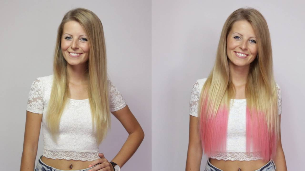 Ombre Clip In Hair Extensions Tutorial Effortless Volume With Rubin