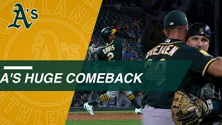 Athletics come back from 10-2 deficit, score 11 unanswered to win it in 10th