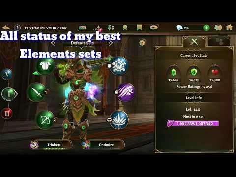 Dungeon Hunter 5 Player Status All Elements